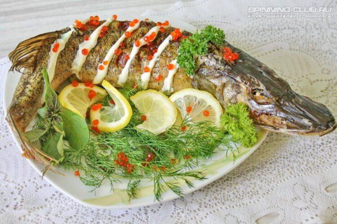 Рецепт фаршированной щуки с салом в духовке