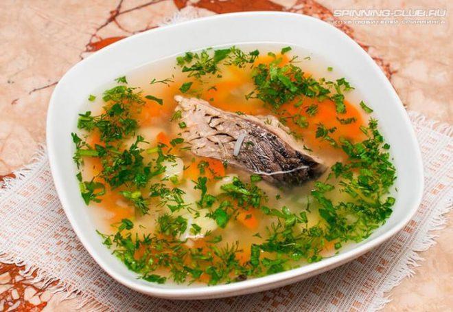 Вкусный суп из окуня с пшенкой