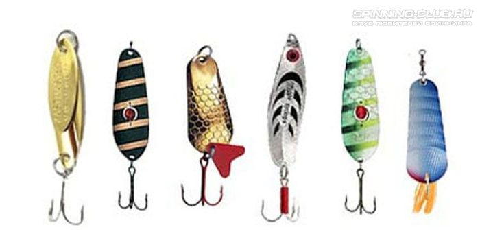 Какие бывают типы рыболовных блесен для спиннинга